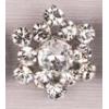 Rhinestone Button Star Silver/crystal 27mm Nickel Free